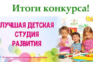Итоги конкурса «Лучшая детская студия развития» по версии интернет-бизнес-центра «Деловой Киров»